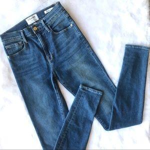 Frame Denim Ali High Rise Skinny Jeans